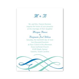 Swirls of Color - Petite Invitation