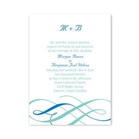 Petite Wedding Collection: Swirls of Color  Petite Invitation