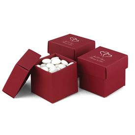 Claret Two-Piece Favor Boxes