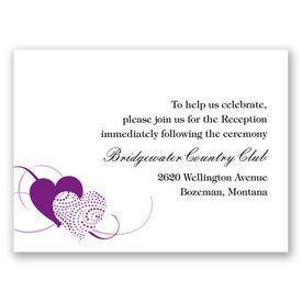 Close at Heart - Grapevine - Reception Card