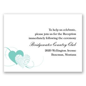 Close at Heart - Lagoon - Reception Card