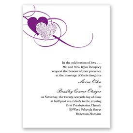 Close at Heart - Grapevine - Invitation with Free Response Card