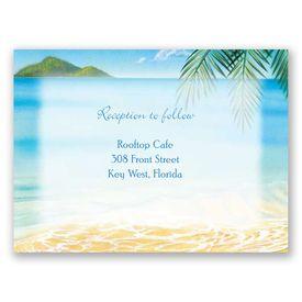 Ocean View - Reception Card