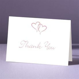 Wedding Thank You Cards: Sweet Hearts  Thank You Card and Envelope
