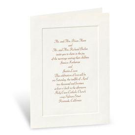 Classic Look in Ecru - Folded Invitation