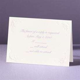 This Day Forward in Ecru - Response Card and Envelope