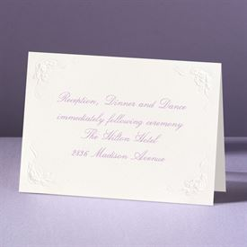This Day Forward in Ecru - Reception Card