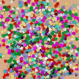 Multicolor Hearts Confetti