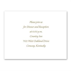 Ring of Love - Reception Card