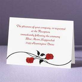 Red Roses - Reception Card