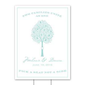 Wedding Yard Signs: Tree Love Yard Sign