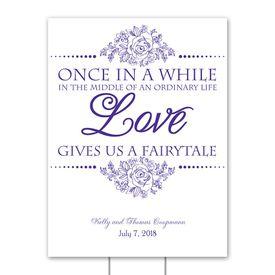 Wedding Yard Signs: Fairy Tale Love Yard Sign