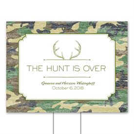 Camo Hunter - Pine - Yard Sign