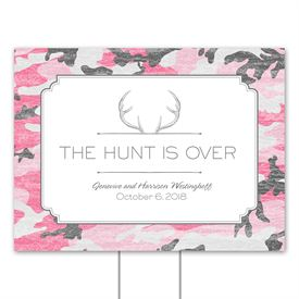 Camo Hunter - Posie Pink - Yard Sign