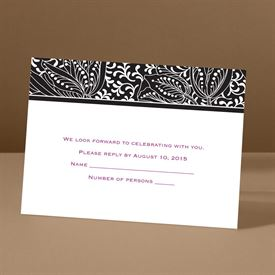 Wedding Response Cards: Blossoming Beauty Response Card and Envelope