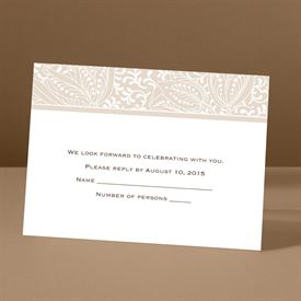 Blossoming Beauty - Latte - Response Card and Envelope