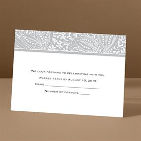 Blossoming Beauty - Gray - Response Card and Envelope