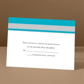 Band of Silver - Palm - Response Card and Envelope