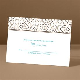 Antique Details - Chocolate - Response Card and Envelope