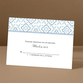 Antique Details - Ocean - Response Card and Envelope