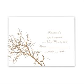 Boughs and Branches - Response Card and Envelope
