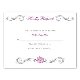 Fairy Tale Roses - Response Card and Envelope