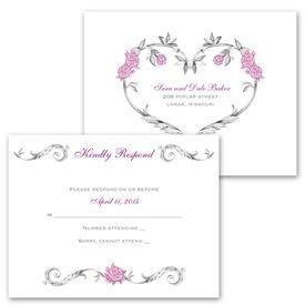 Wedding Response Postcards: Fairy Tale Roses  Response Postcard