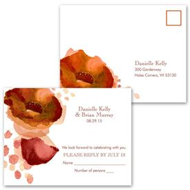 Sultry Blooms - Tango - Response Postcard