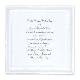 Pearl Wedding Invitations: Pearlized Borders  Invitation