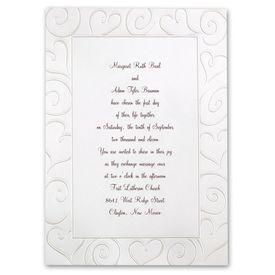Pearl Wedding Invitations: Loving Swirls  Invitation