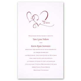 heart wedding invitations ann s bridal bargains