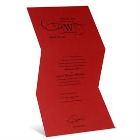 Winter Wedding Invitations: Are You Blushing  Invitation