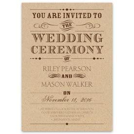 Typography on Kraft - Invitation