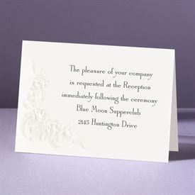 Union of Our Hearts - Reception Card