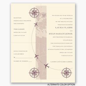 Destination Romance - Ecru - Separate and Send Invitation