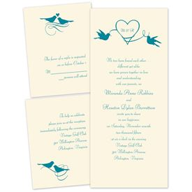 Bird Wedding Invitations: Love In The Air Separate And Send Invitation