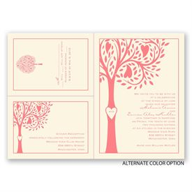 Tree Love - Ecru - Separate and Send Invitation