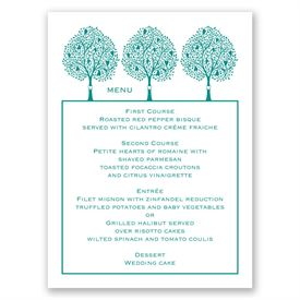 Tree Love - Menu Card