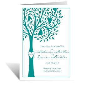 Tree Love - Wedding Program