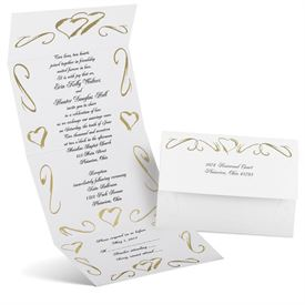 Hearts in Gold - Seal and Send Invitation