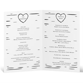 Sweetly Carved - Wedding Program