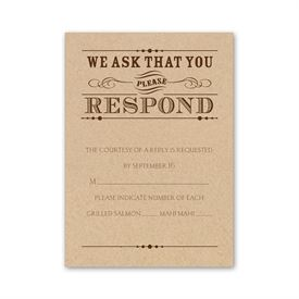 Typography on Kraft - Response Card and Envelope