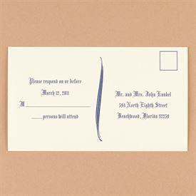 Wedding Response Postcards: Ecru Response Postcards