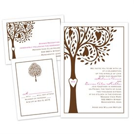 Tree Love - Separate and Send Invitation