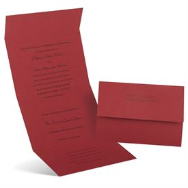 Winter Wedding Invitations: Passion  Seal and Send Invitation