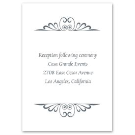 Calligraphy Perch - Reception Card
