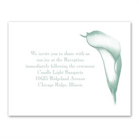 Calla Lily Arch - Reception Card
