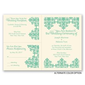 Lace Lining - Ecru - Separate and Send Invitation