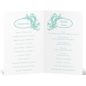 Filigree Wisps - Wedding Program
