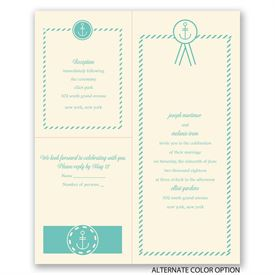 Anchor Accents - Ecru - Separate and Send Invitation
